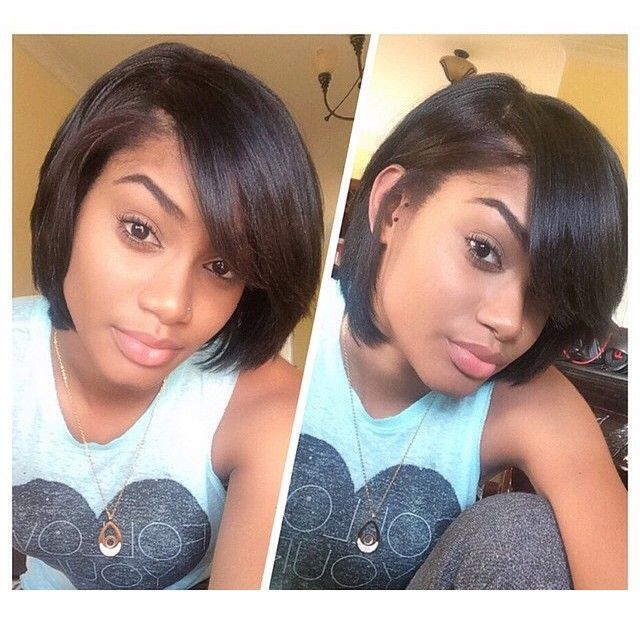 Hairspiration In Love With This Bobcut On Michaelaleeanna It S So Chic All Natural Spotted Via Relax Natural Hair Styles Relaxed Hair Short Hair Styles