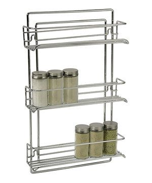No More Missing Oregano Or Cinnamon Keep Every Spice Organized And Accessible With This Sturdy Steel Rack It Mounts On The Inside Of A With Images Wall Mounted Spice Rack