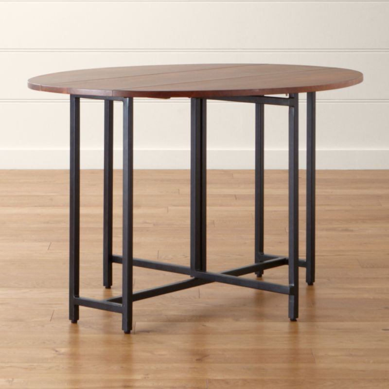 Origami Drop Leaf Oval Dining Table Reviews Crate And Barrel