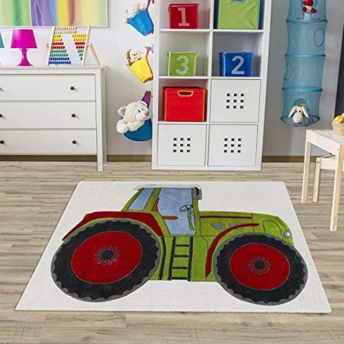 Kinderteppich Traktor Grun Weiss In 2020 Kinderteppiche Teppich Kinderzimmer Kinderzimmer