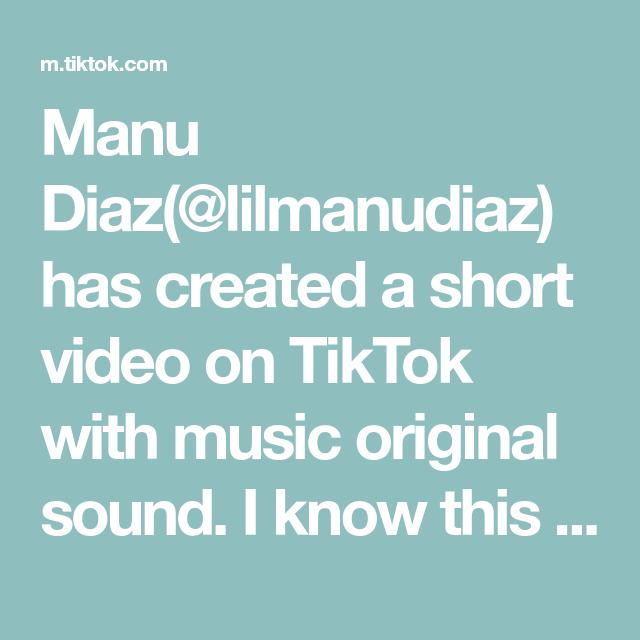 Manu Diaz Lilmanudiaz Has Created A Short Video On Tiktok With Music Original Sound I Know This Mix Was Made Just For M The Originals What Do You Meme Music