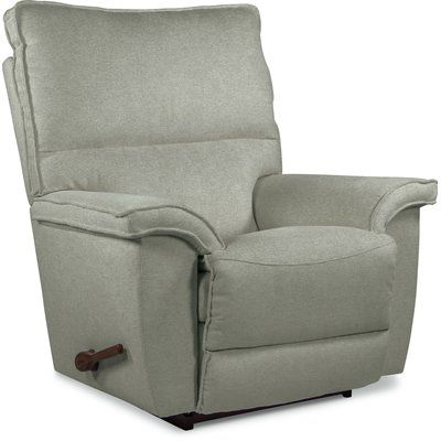 La Z Boy Norris Manual Rocker Recliner Upholstery Color Gray Reclining Type Rocker Recliners Recliner Recliner With Ottoman