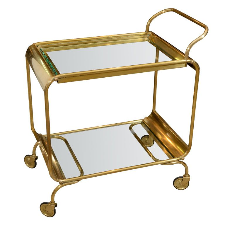 Italian Brass Bar Cart Glass Shelves In Bathroom Glass Shelves Kitchen Glass Shelves Decor Antique brass bar cart