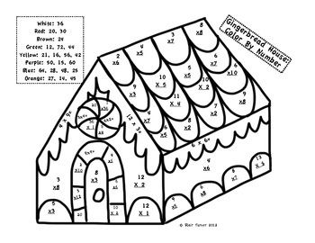 math worksheet : christmas multiplication color by number  laurau0027s teacher and  : Christmas Coloring Math Worksheets