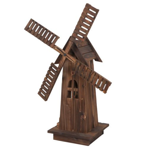 34 In With Blades Decorative Garden Windmill Lawn Ornament Wooden