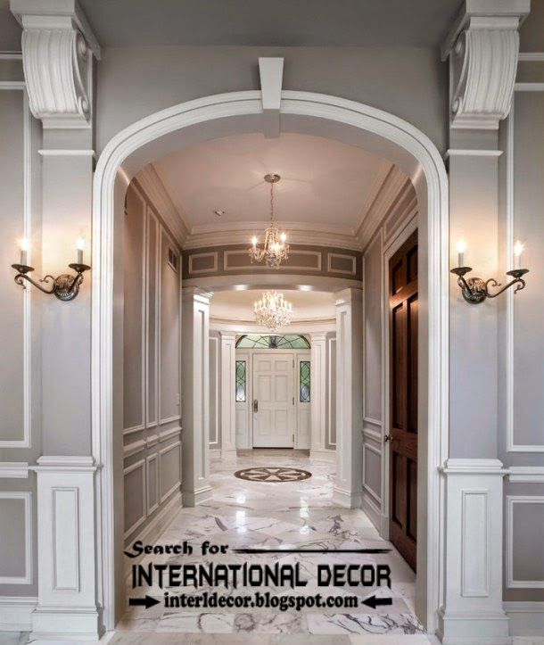 20 Remarkable Modern Hallway Designs That Will Inspire You: Decorative Wall Molding Or Wall Moulding Designs Ideas And