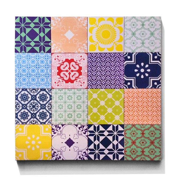 Color Me Blind   Box Of 16 Ceramic Tiles From ARTTILES. ARTTILES CERAMIC  Are Handmade