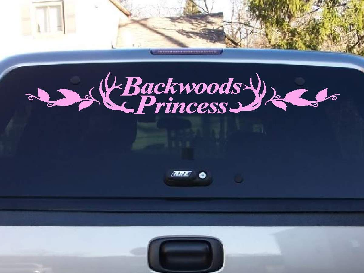 Backwoods Princess Windshield Decal Princess And Cars - Car windshield decals customcustom window decals