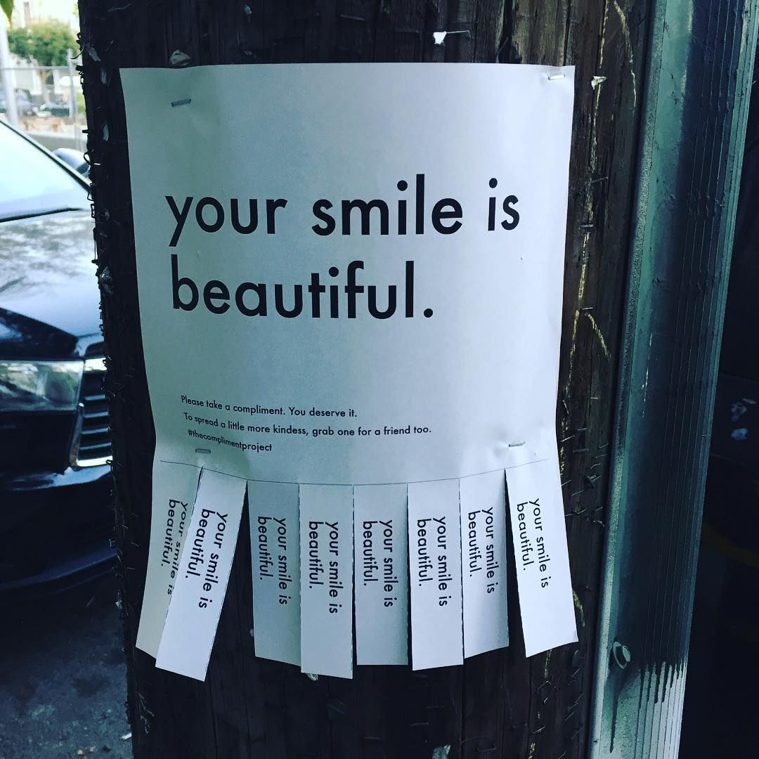 The Compliment Project, Simple Tear Off Flyers Tha