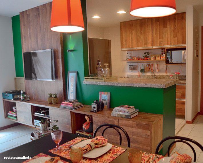10 salas de jantar integradas Como decorar Cocina americana