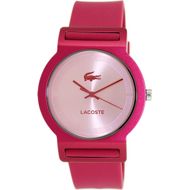 a82e56f1c38 Lacoste Women s Tokyo 2020077 Pink Silicone Analog Quartz Watch ...