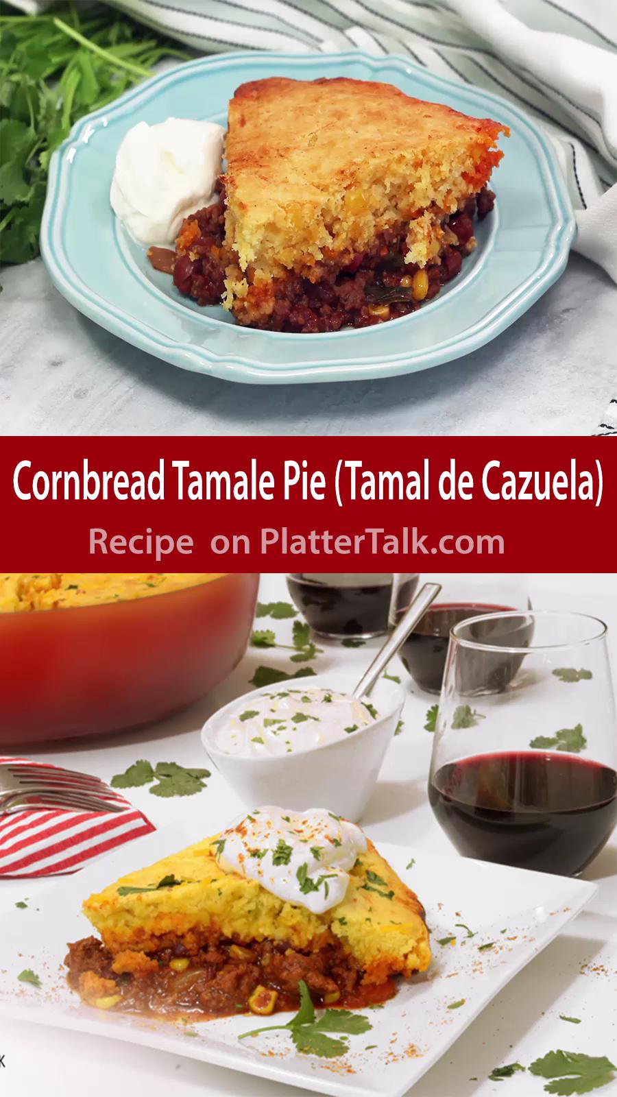 Cornbread Tamale Pie #mexicancornbreadcasserole