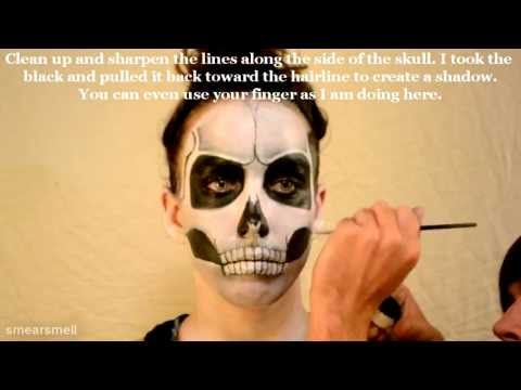 halloween skull makeup tutorial female