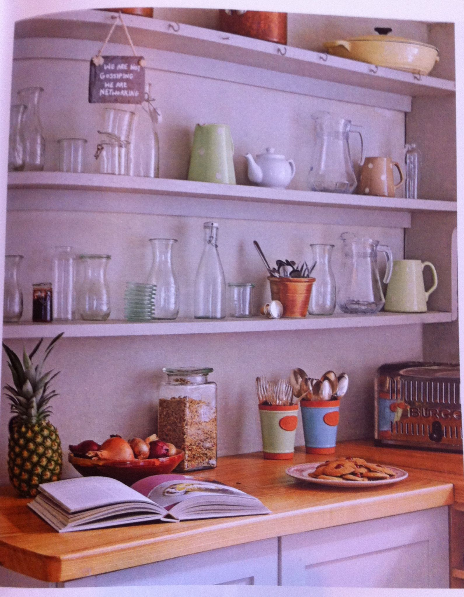 Open shelving featured in home u antiques vintage homes kitchen