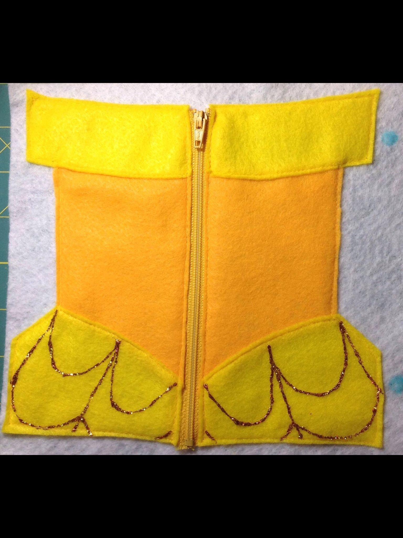 Belle dress for zipper practice, quiet book page | Tracy-Made ...