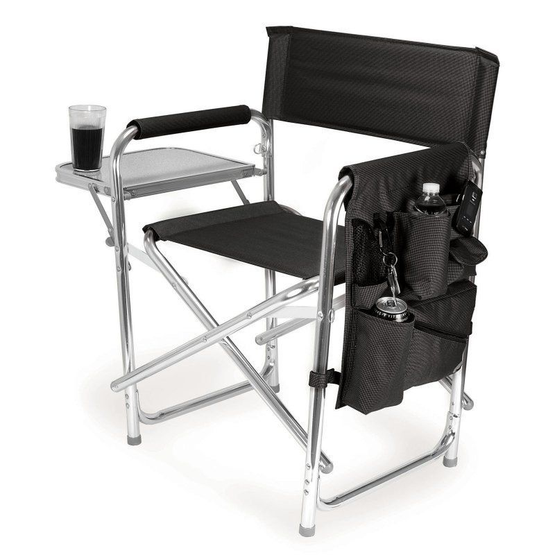 Outdoor Picnic Time Sports Directors Chair Black 809 00 179 000