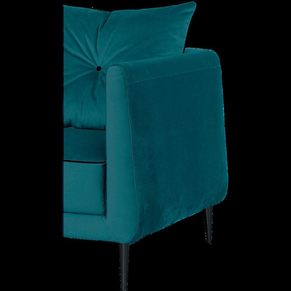 Canape D Angle Fixe Gauche En Tissu Bleu Niolon Alinea Canape Angle Tissu Bleu Et Canape Tissu