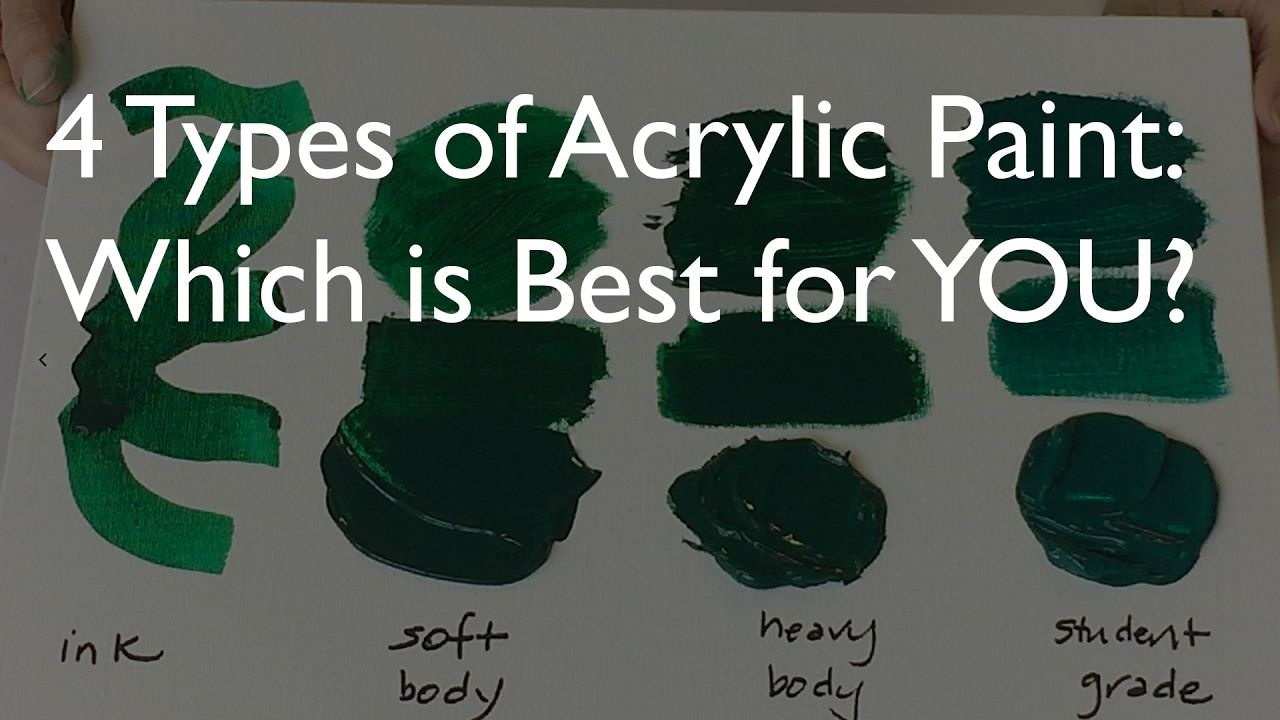 4 Types of Acrylic Paint – Which is best for YOU?