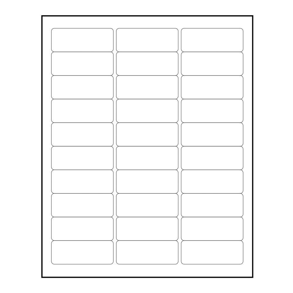 """Avery Label Template 5160 Recommended 3000 Blank 1"""" X 2 5"""
