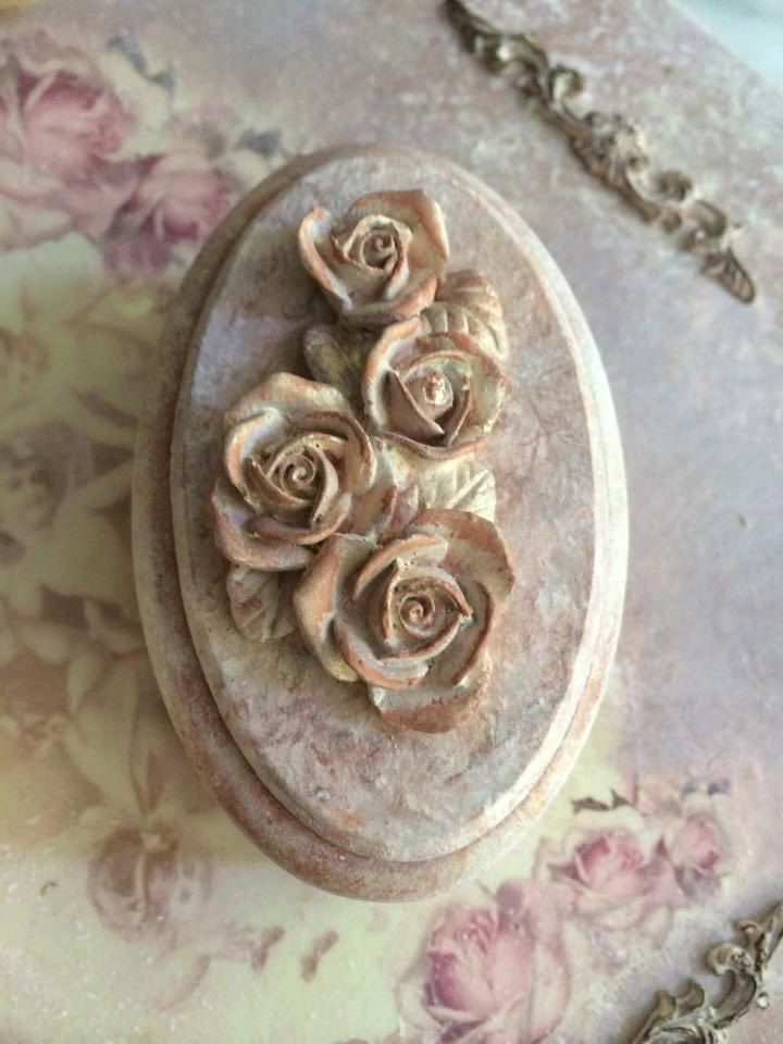 Small Wedding Jewelry Box Small Roses Box Engagement Ring Bearer