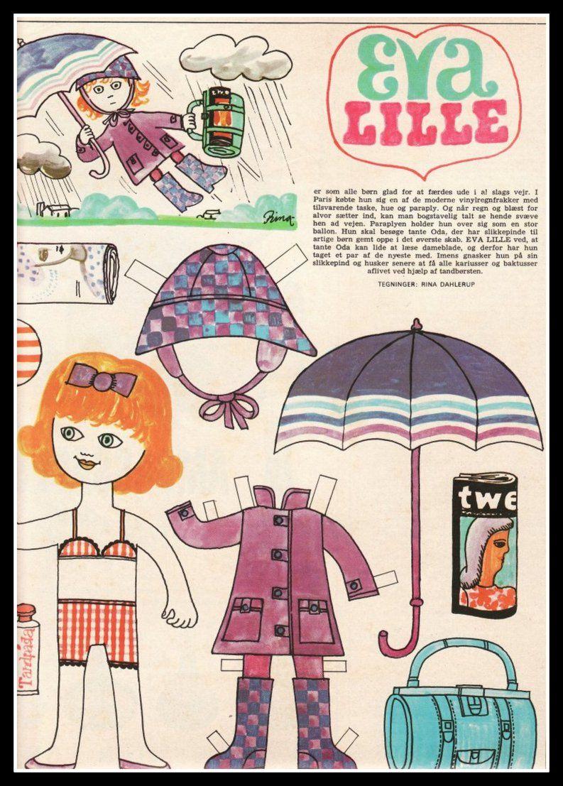 Ingrids Påklædningsdukker: Regnvejrstur