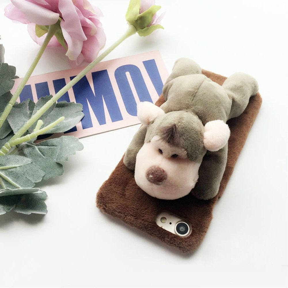 coque iphone 8 peluche