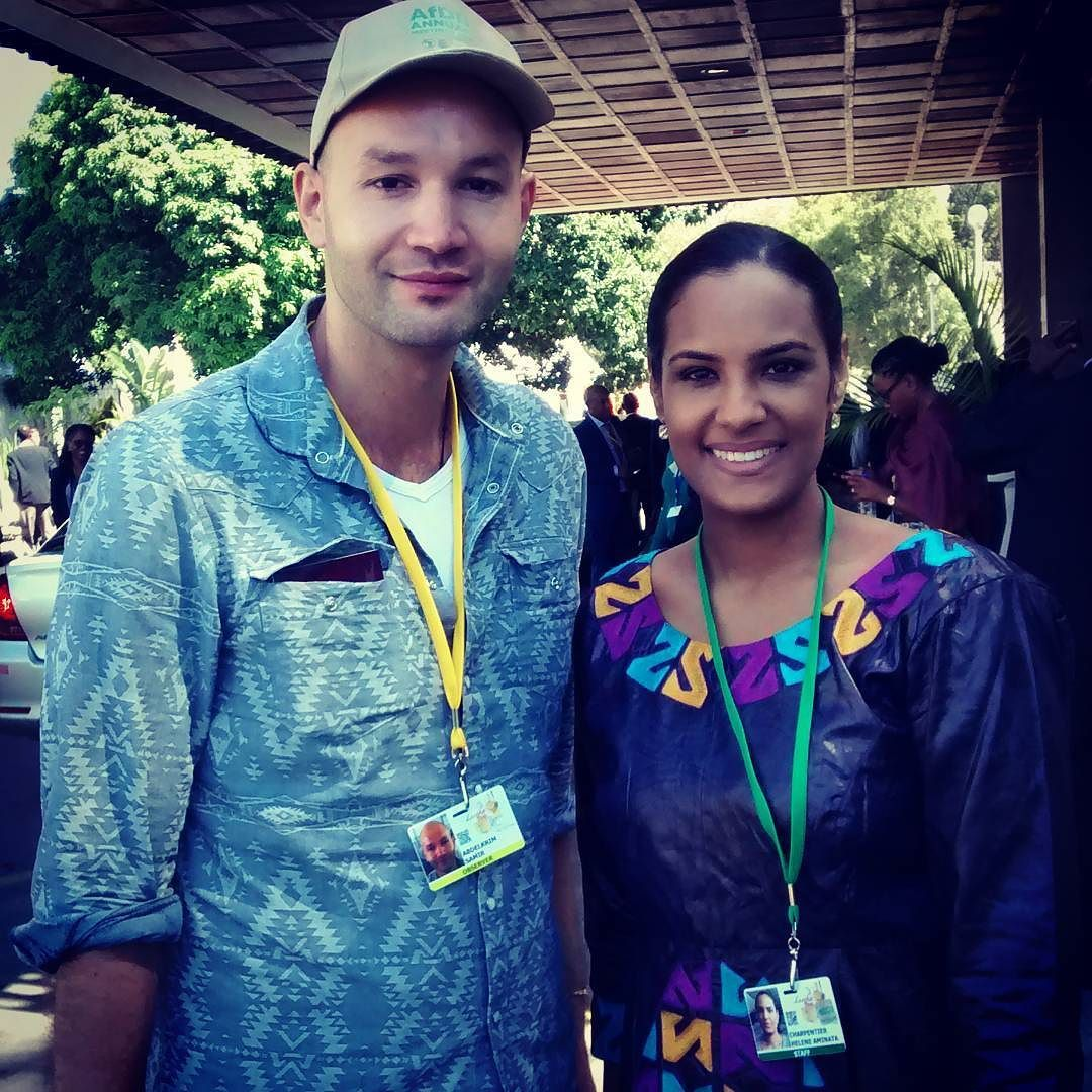 #HappyAfricaDay  When #Algeria & #Mauritania meet in #Zambia  I first met @HeleneAminata in #Mauritania in 2014 during the #WikiStage in Nouakchott where I was giving a keynote about African innovation. She was then doing a remarkable job with @AissataLam trying to spread the entepreneurship spirit in Mauritania with the Jeune Chambre de Commerce de Mauritanie.  Almost one year and half after I meet for the second time Aminata in #Lusaka for the Annual Gatherings of the…