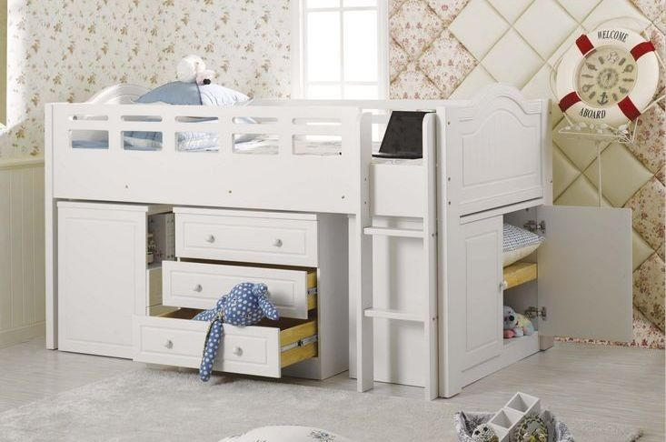 Versaille space saver loft bed king single bedroom - Space saving king size bed ...