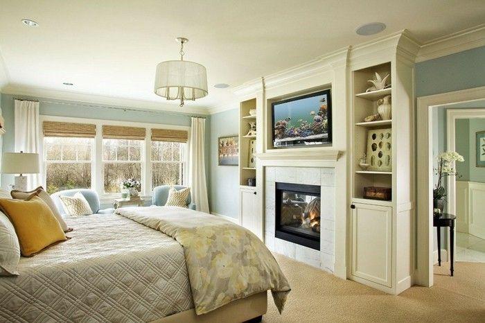 Schlafzimmer Teppichboden ~ Schlafzimmer deko ideen accessoires raffrollos teppichboden