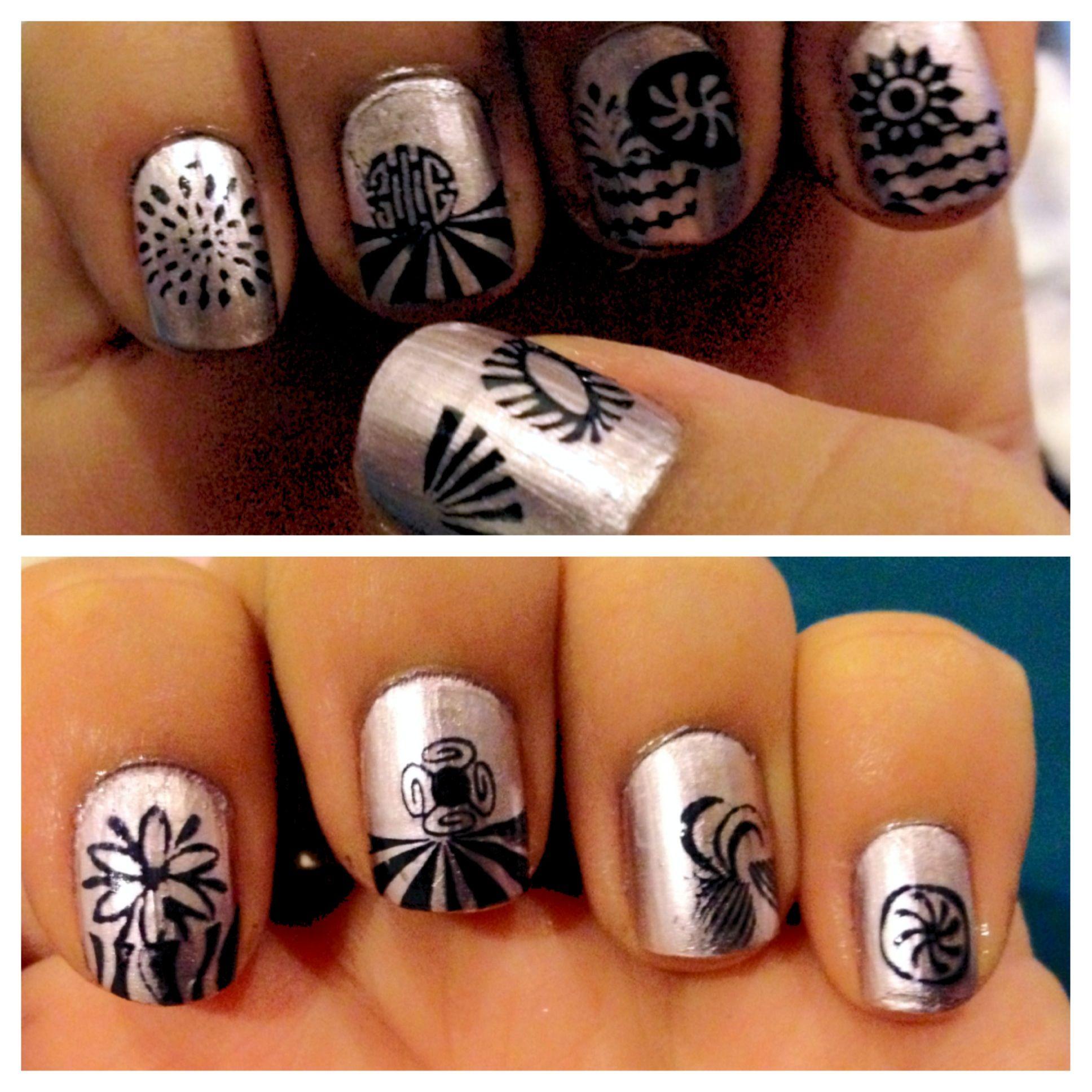 funky nails ^_^ | Beauty | Pinterest