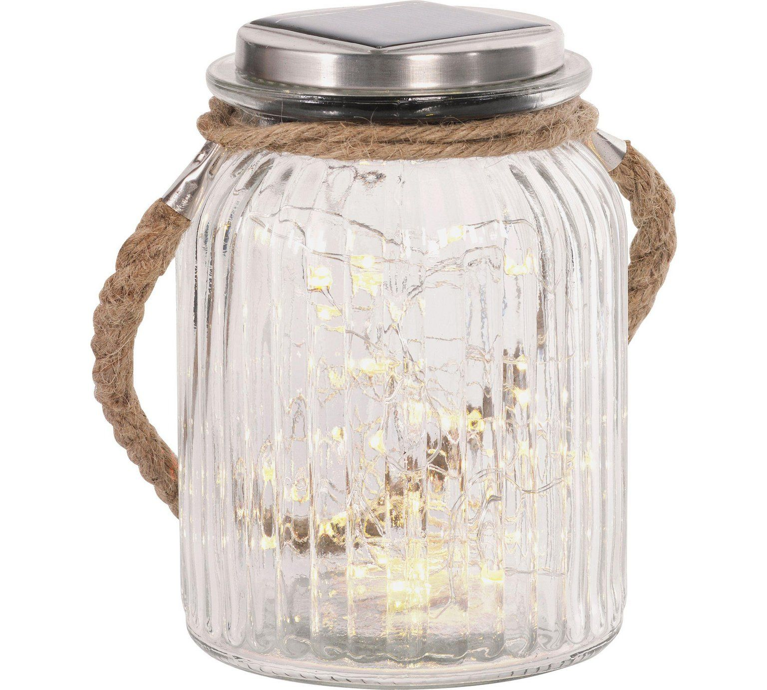 Buy Heart of House Rio Solar Glass Rope Jar with 50 LED