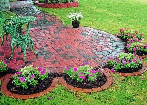 Decoracion De Jardines Con Ladrillos Jardines Jardin De Flores Jardines Bonitos