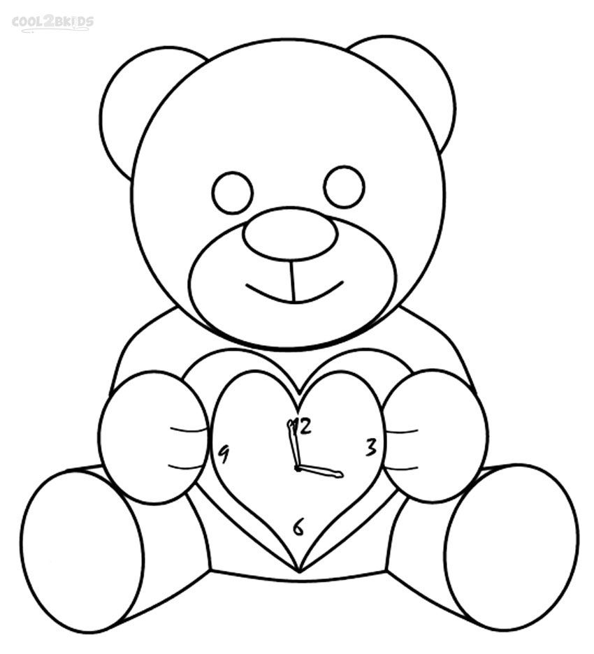 printable clock coloring pages for kids