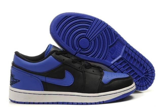 pretty nice 24ae9 349cb Air Jordan Shoes Air Jordan 1 Low Phat Black Varsity Royal White  Air Jordan  1 - They sport a black and royal blue color scheme along with the classic  white ...
