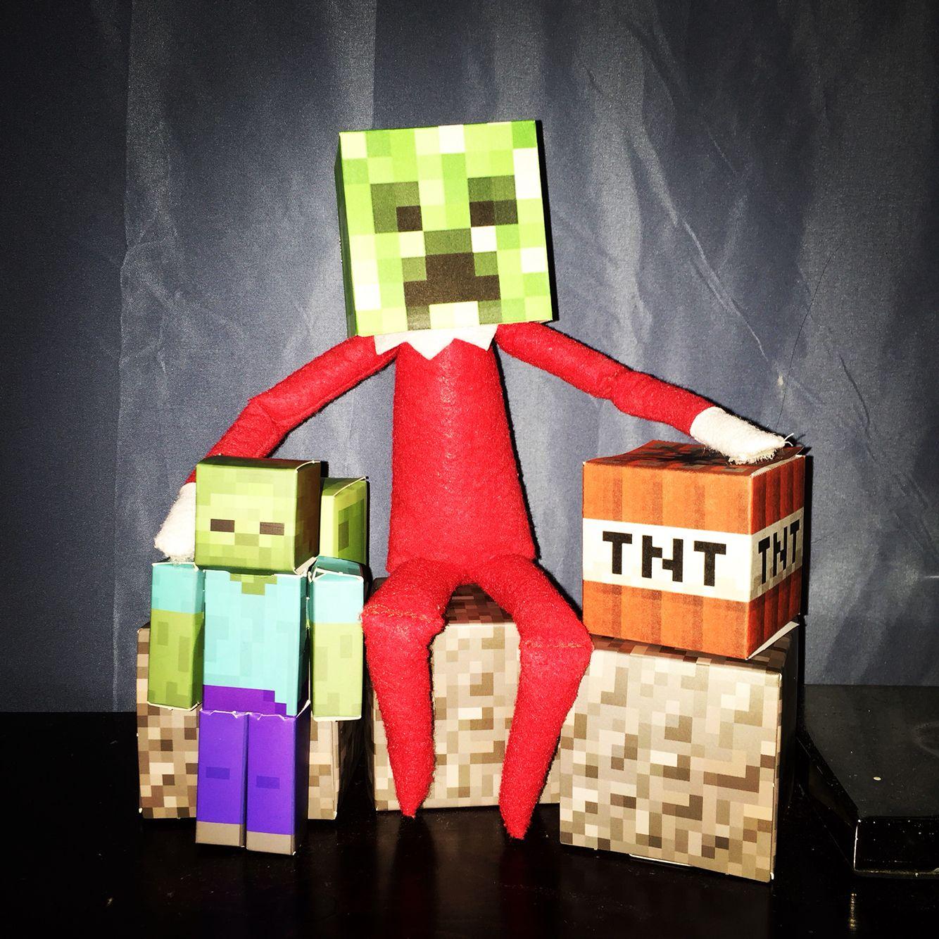Elf on the Shelf Day 4 Minecraft style! kippertheelf