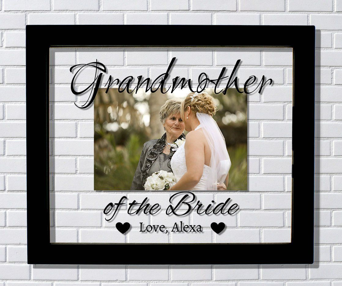 Grandmother of the Bride Frame - Grandfather of the Bride - Floating ...
