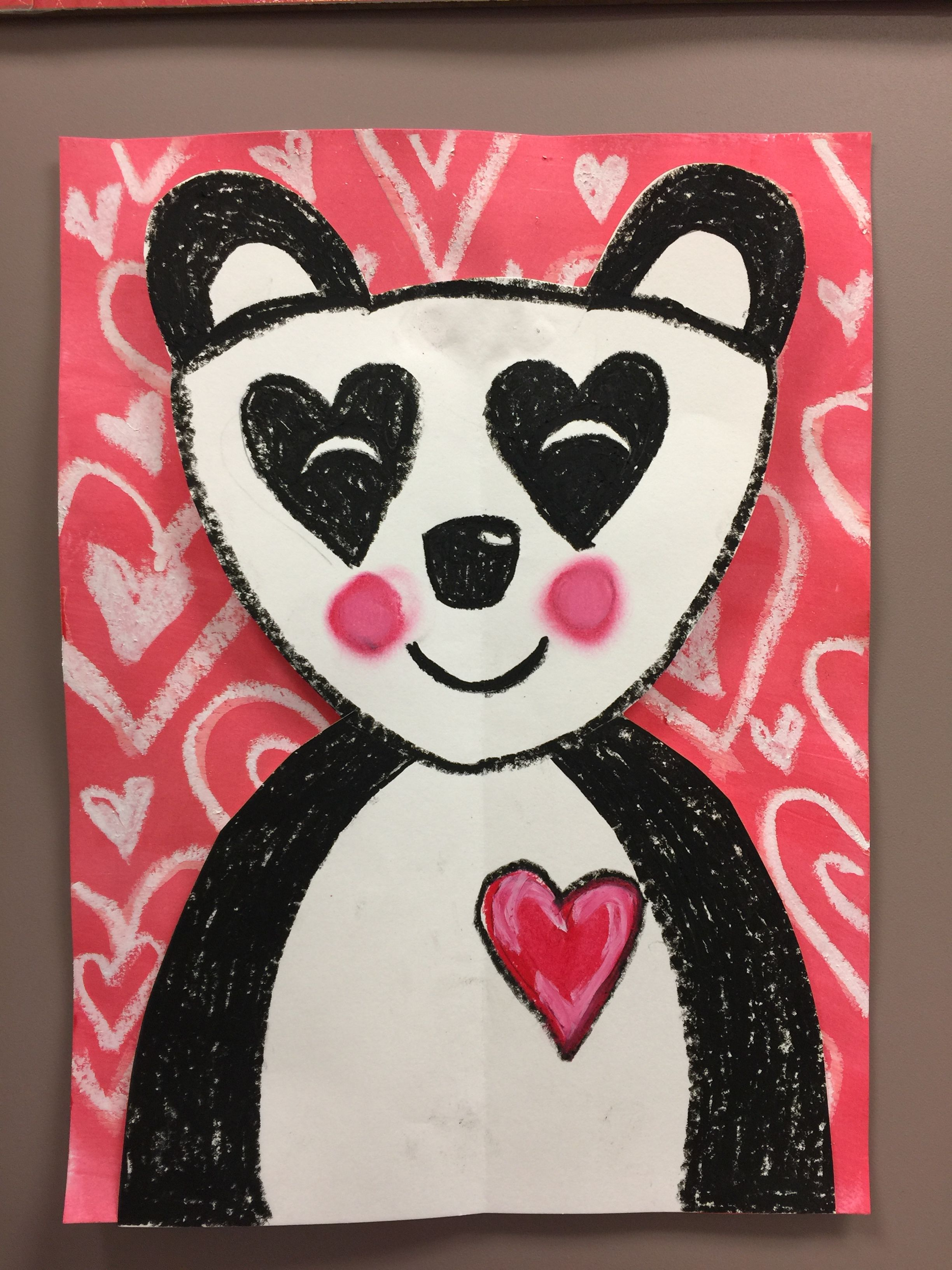 Valentine S Day Panda Bear Art For Grades K 2 Created By