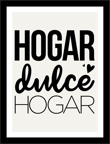 Poster Adhesivo Hogar Dulce Hogar Frases Para Vinilos Vinilo