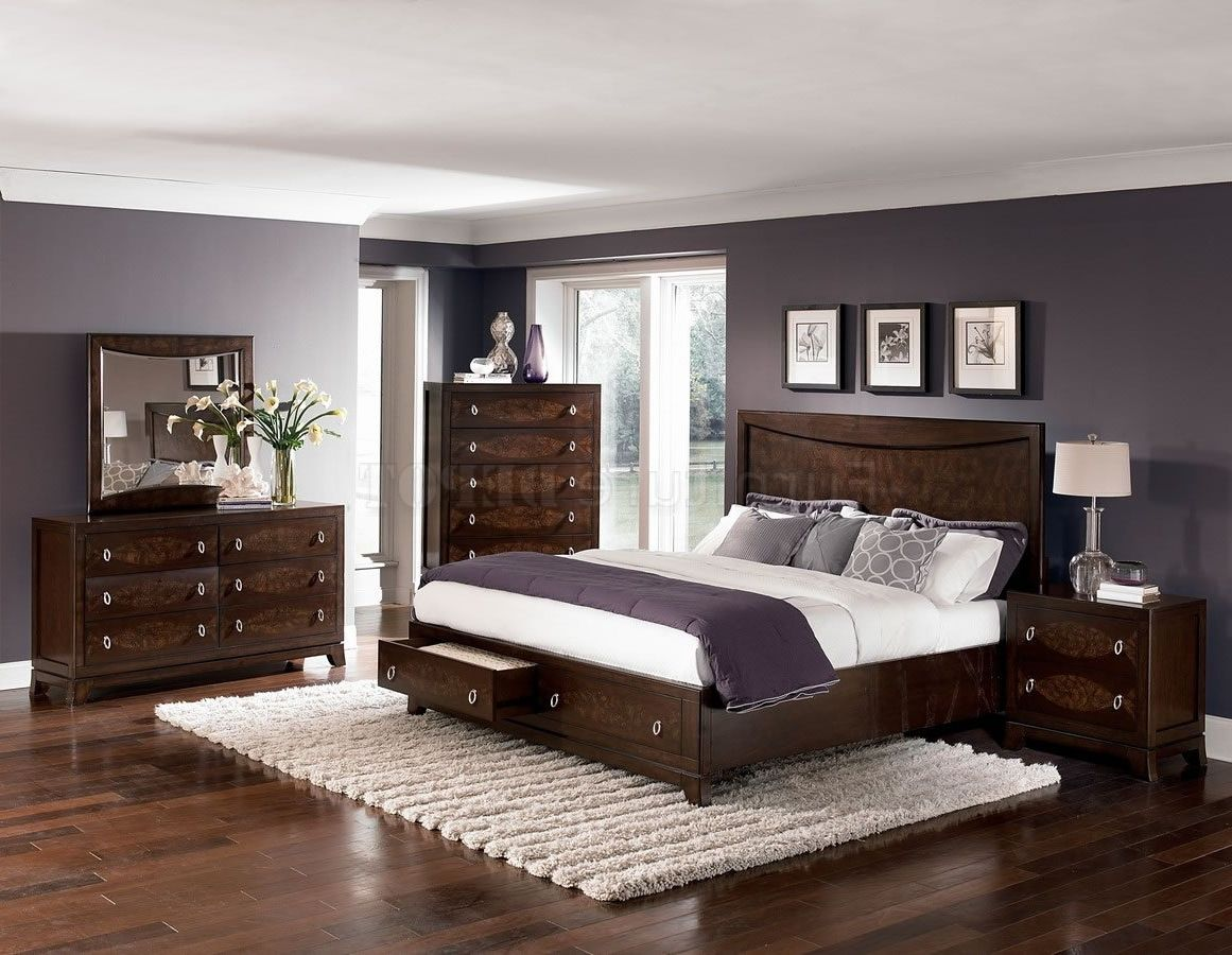 Paint Colours For Bedrooms Dark Wood Furniture Google Search Brown Furniture Bedroom Bedroom Interior Dark Bedroom Furniture