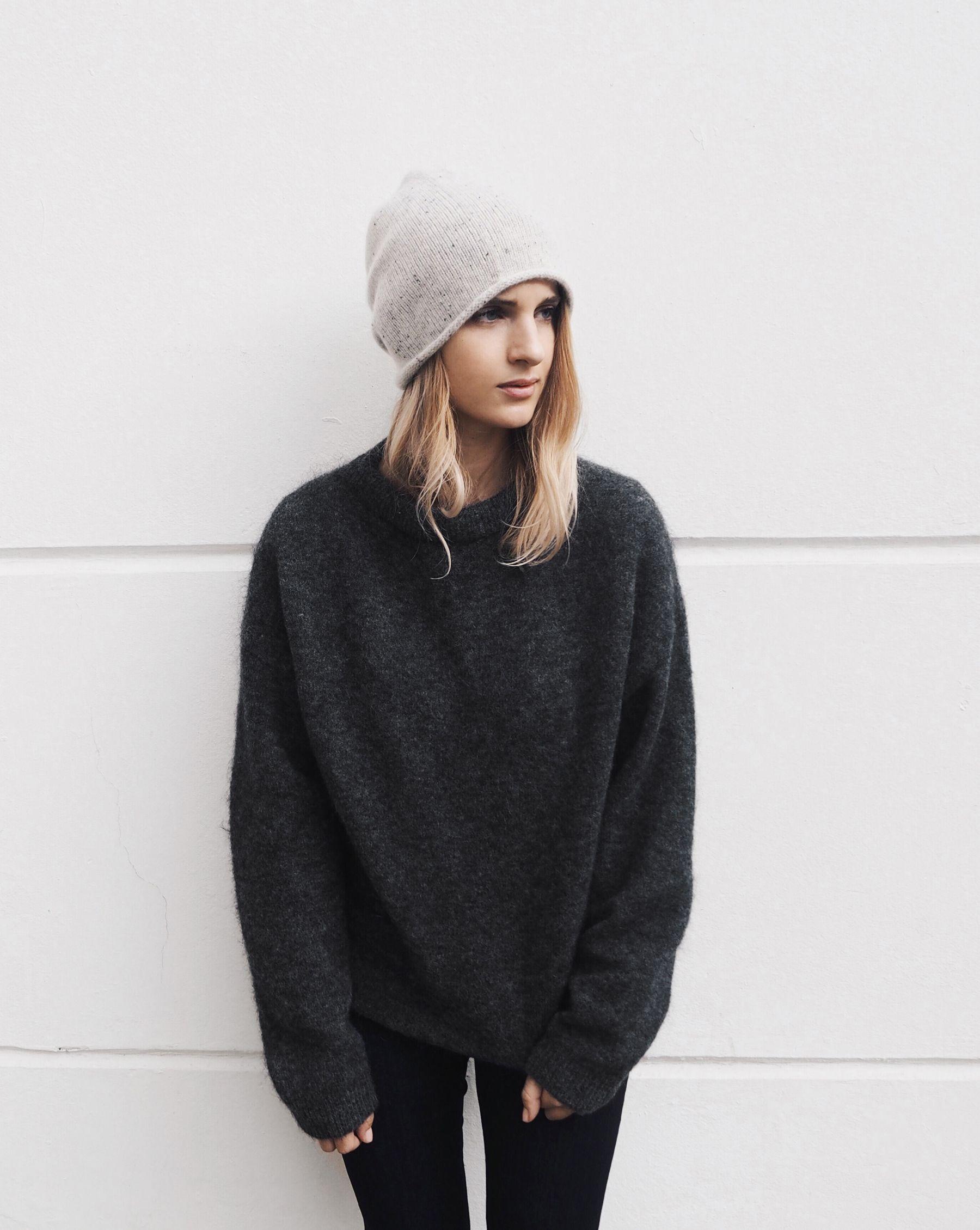0007e100444 Cos cashmere beanie   Acne Studios mohair knit. Via Mija