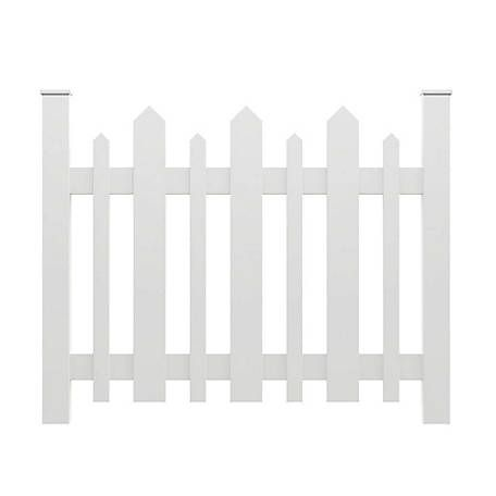 Xpanse Vinyl Picket Accent Fence At Tractor Supply Co Vinyl Fence Panels White Vinyl Fence Vinyl Fence