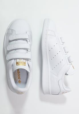 STAN SMITH LACE-FREE SHOES - Trainers - weiß/gold @ Zalando ...