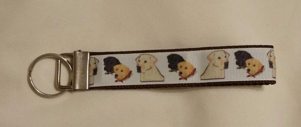 Handcrafted Labrador Retriever Dogs Key Chain Wristlet NEW