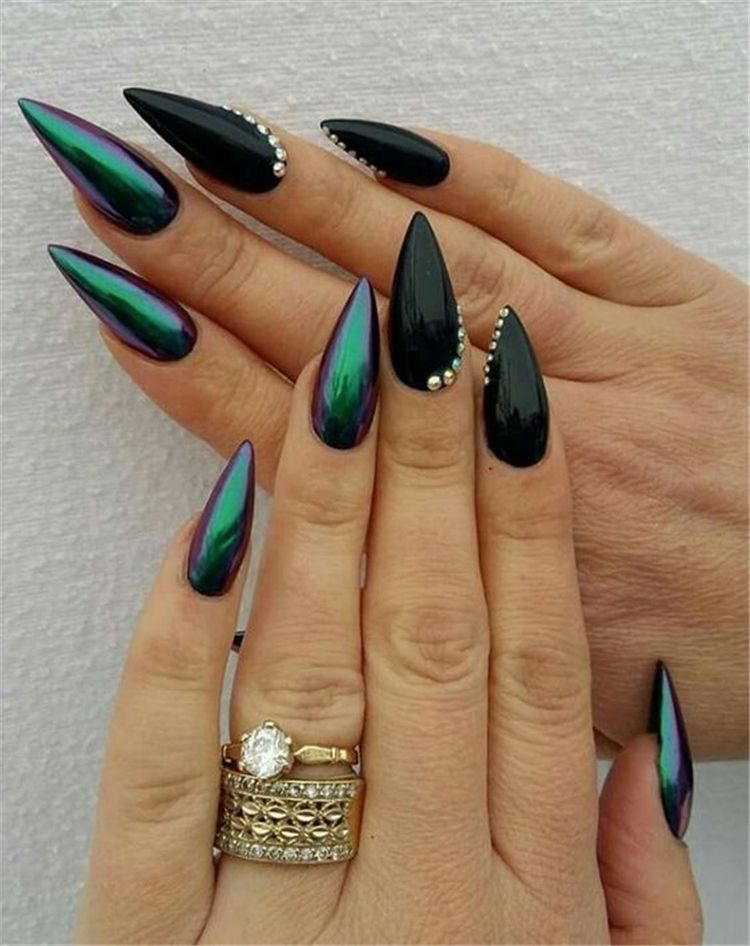 Photo of 58 Black Stiletto Nails Design for 2019 Halloween