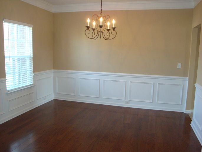picture frame molding in dining room - could get expensive, but ...