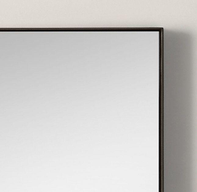 RHs Metal Floating MirrorOur Sleek Frame Has A Clean Finish And Minimalist Detail