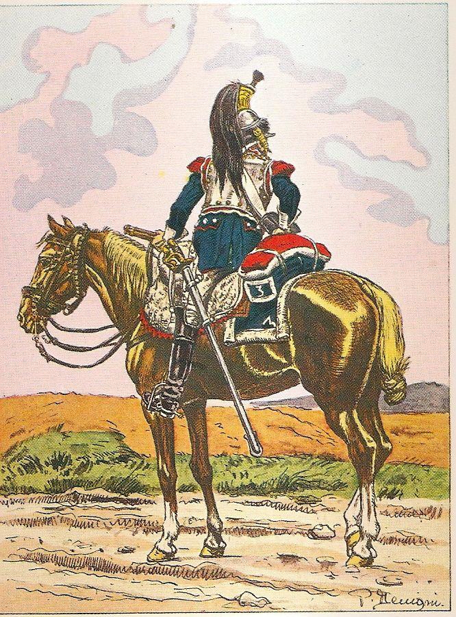 Corazziere del 3 reggimento corazzieri nel 1805