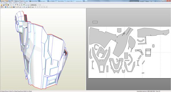 Halo 4 Master Chief foam build *WIP* (with templates) | Pepakura