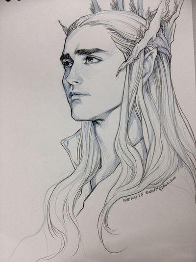 Thranduil The Hobbit Drawing By Evankart Art Drawing