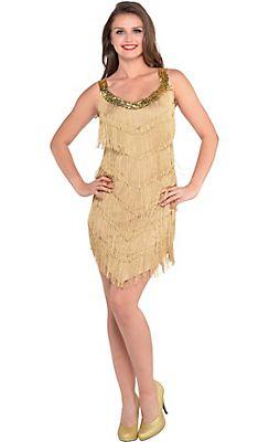 Roaring '20s Champagne Flapper Dress